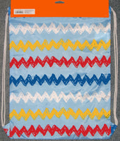 Peanuts Nylon Cinch Sack Tote - Zig Zag Stripes