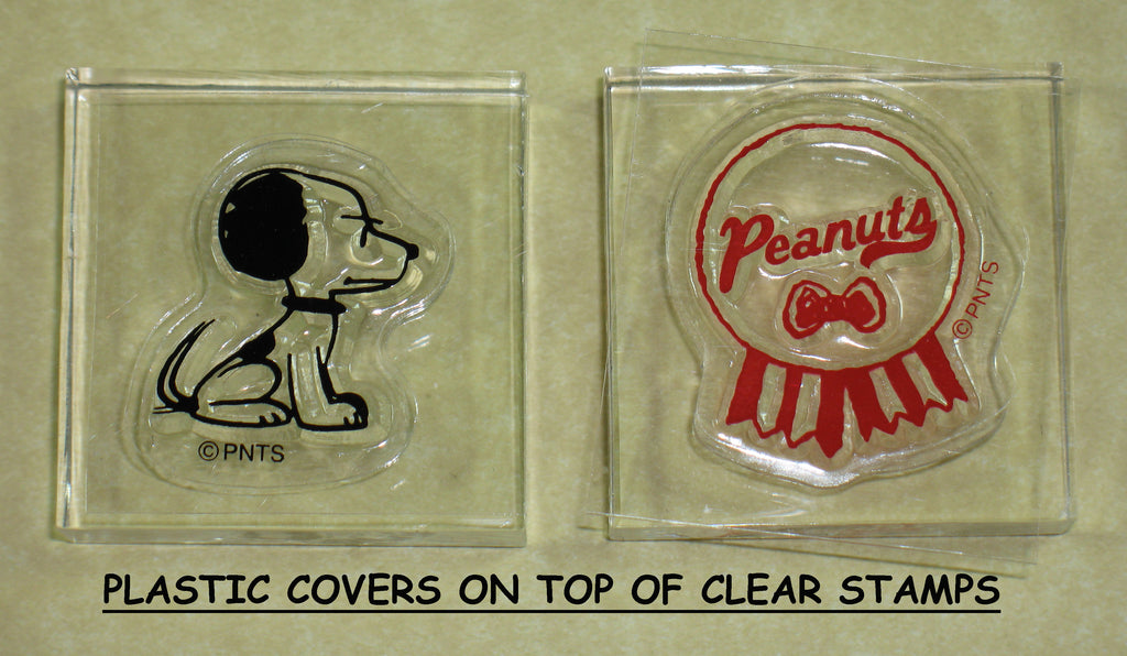 Peanuts Clear Vinyl Stamp Set On Thick Acrylic Blocks -  Young Snoopy and Peanuts