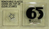 Peanuts Clear Vinyl Stamp Set On Thick Acrylic Blocks -  65th Anniversary
