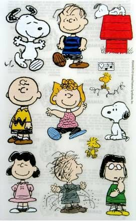 Peanuts Gang Clear-Backed Stickers