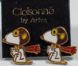 Flying Ace Cloisonne Post Earrings