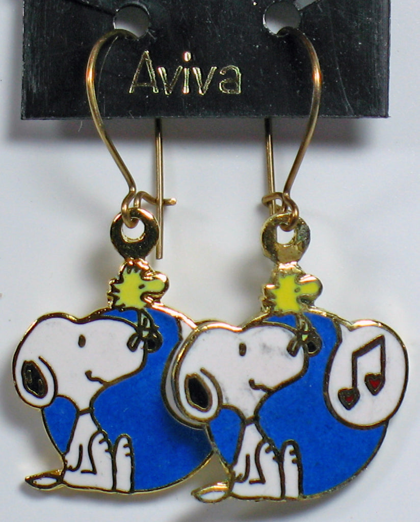 Singing Woodstock Cloisonne Latch Back Earrings