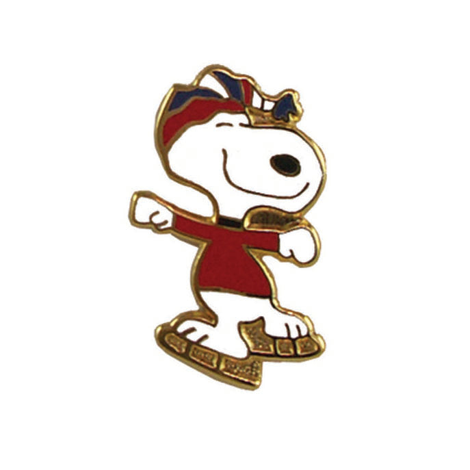 Snoopy Ice Skater Cloisonne Pin - ON SALE!