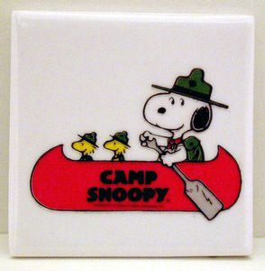 Snoopy Beaglescout Ceramic Tile Magnet