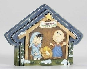 "Dept. 56 ""Peanuts Christmas Pageant"" Wood Puzzle"