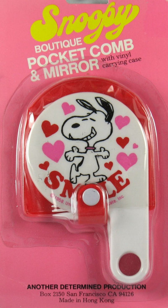Snoopy Pocket Comb and Mirror Set - SMILE