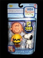 2003 Comic Con Figures - Charlie Brown and Snoopy