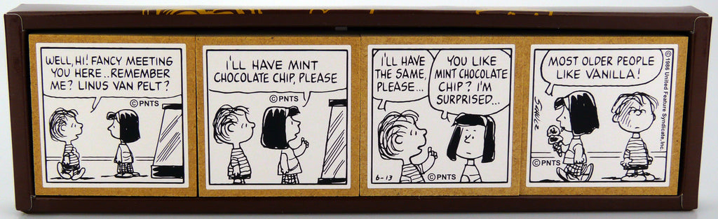 Peanuts Comic 4-Panel Rubber Stamp Set - RARE!