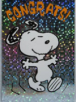 Congratulations Card (Holographic) - Snoopy