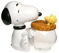 Snoopy and Woodstock 3-Piece Cookie Jar - RARE!