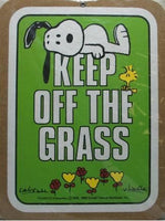 Keep Off The Grass Cork Board - Light Green - PRICE REDUCED!