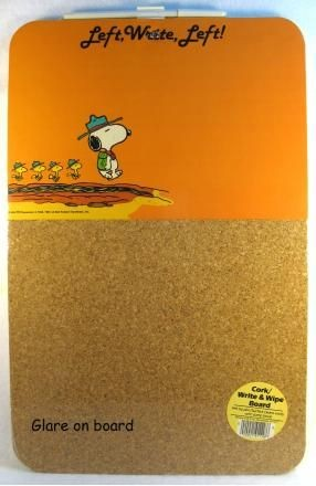 Snoopy Combination Write-On/Cork Board - Left, Write - PRICE REDUCED!