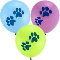 Snoopy Beagle Paw Prints Latex Helium-Quality Colored Balloon Set