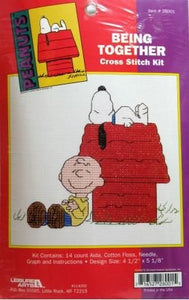 "Charlie Brown and Snoopy Cross Stitch Kit - ""Being Together"""