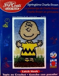 Charlie Brown Latch Hook Kit - Springtime Charlie Brown