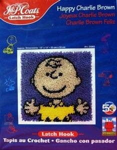 Charlie Brown Latch Hook Pillow Kit - PRICE REDUCED!