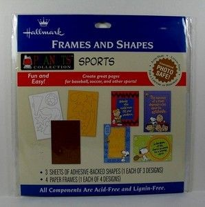 Peanuts Sports Kit For Scrapbooks - Frames and Shapes