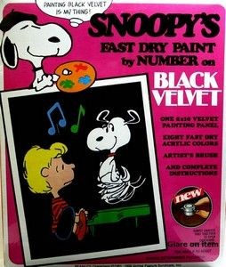Snoopy and Schroeder Velvet Paint Set