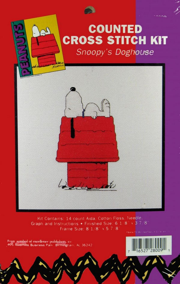 Snoopy Cross Stitch Kit  - Snoopy's Doghouse
