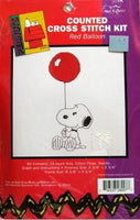 Snoopy Cross Stitch Kit - Red Balloon