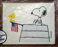 Peanuts Crewel Stitchery Kit - Snoopy and Flag
