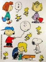 Peanuts Gang Reusable Textured Window Stickers/Clings