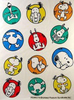 Snoopy Circles Reusable Textured Window Stickers/Clings