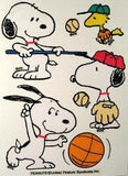Snoopy Sports Reusable Textured Window Stickers/Clings