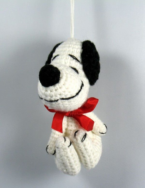 Snoopy Crocheted Christmas Ornament