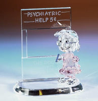 Crystal World Peanuts Figurine: Psychiatrist Lucy - RARE!