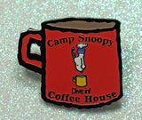 Camp Snoopy Coffee House Enamel Pin - Dive In