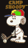 Snoopy Golfer Enamel Pin With Movement