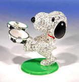 Crystal World Snoopy Jeweled Trinket Box - Soccer Player