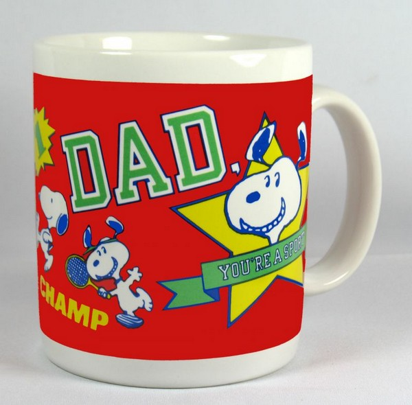 Snoopy and Woodstock Mug - Dad, You're A Sport!