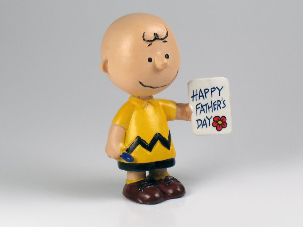 Danbury Mint's Peanuts Father's Day Figurine - Charlie Brown