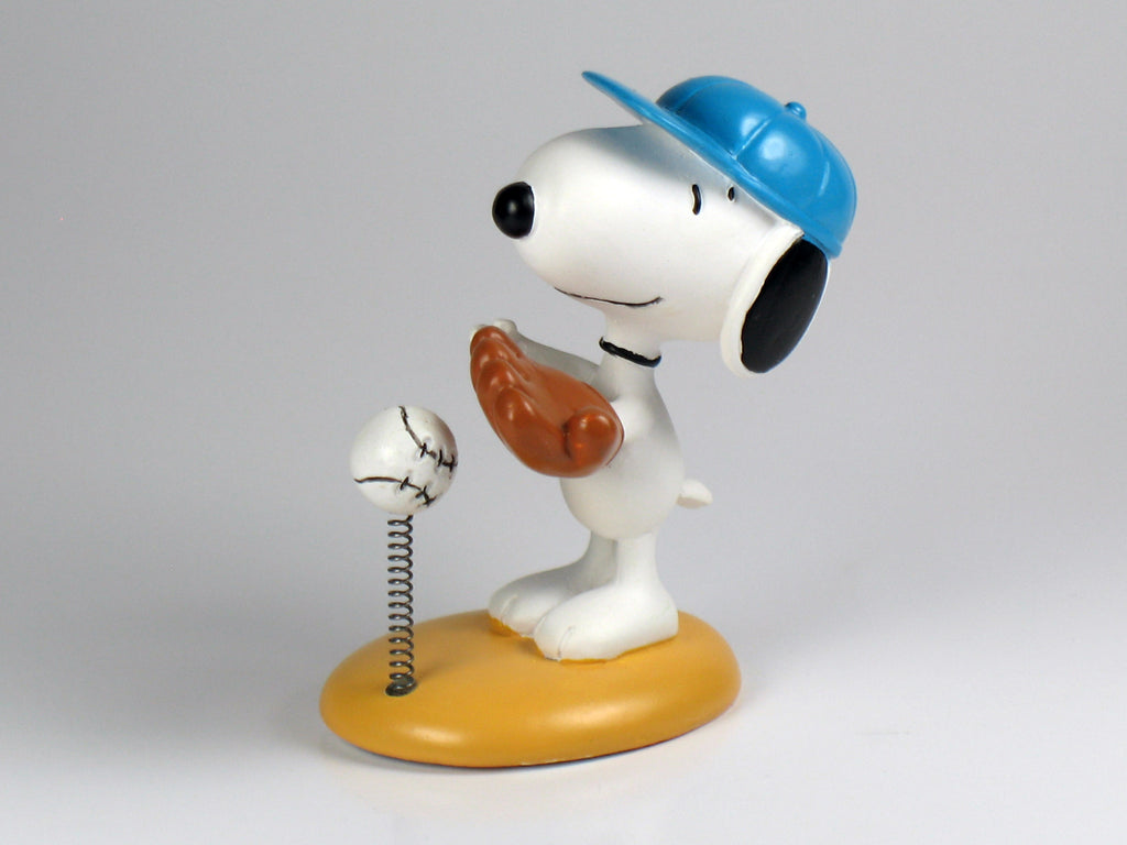 Danbury Mint Snoopy Spring Figurine - Baseball Player