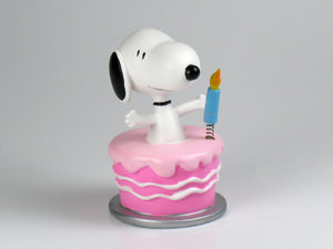 Danbury Mint Snoopy Spring Figurine - Birthday Cake