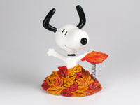 Danbury Mint Snoopy Spring Figurine - Fall Leaves