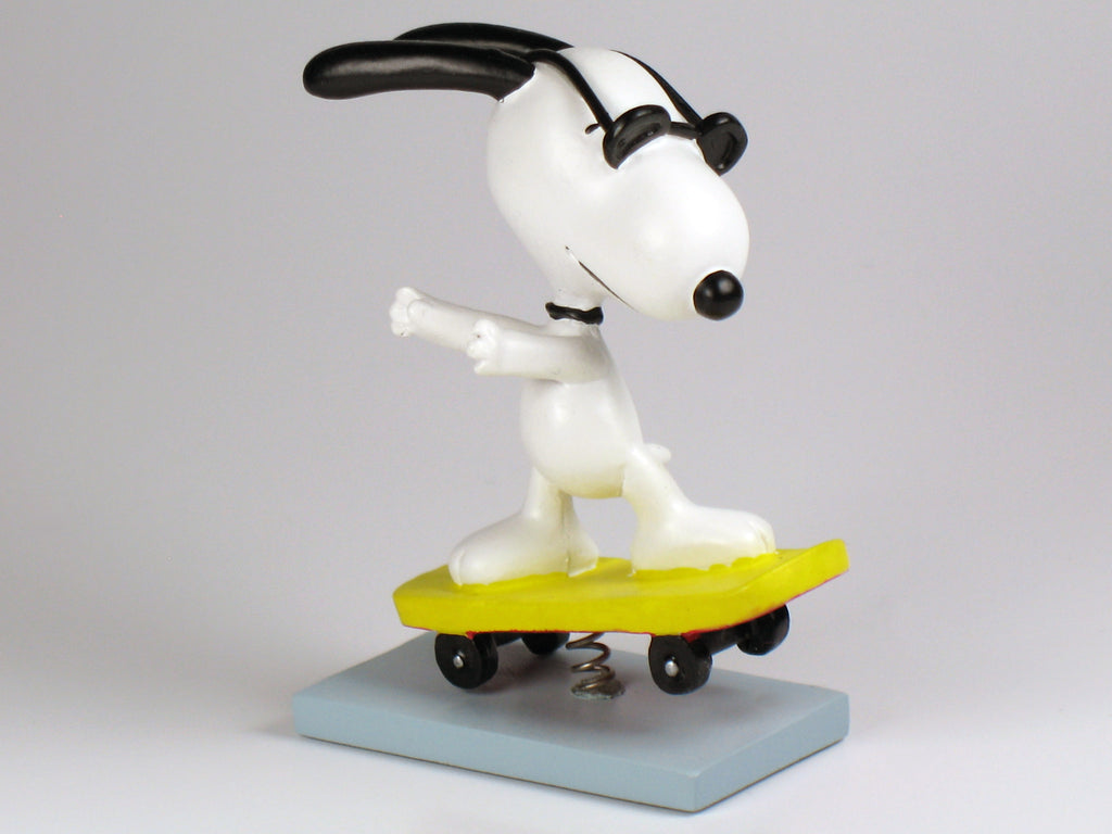 Danbury Mint Snoopy Spring Figurine - Skateboarder