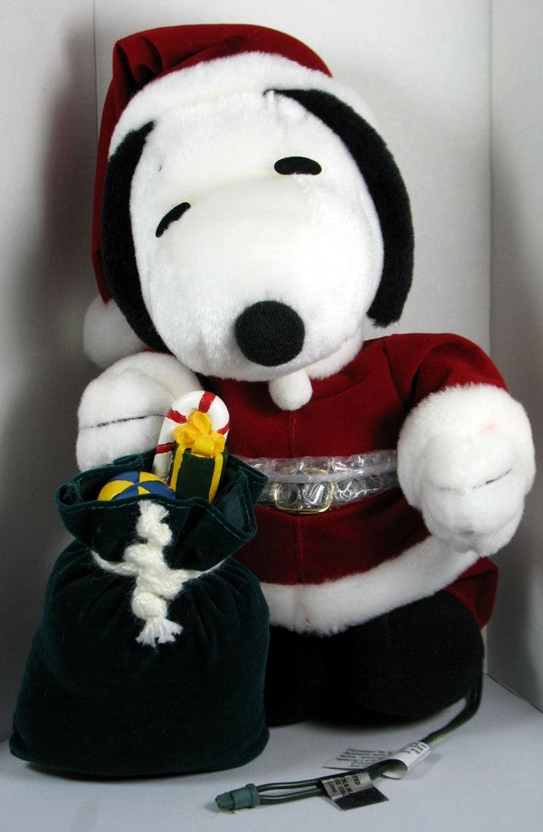Snoopy Santa Animated Plush Decor
