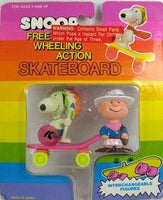 Snoopy Indian and Charlie Brown Cowboy On Skateboard