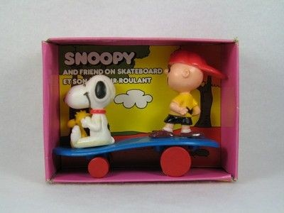 Charlie Brown and Snoopy On Skateboard