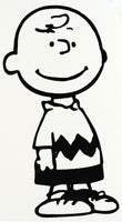 Charlie Brown Die-Cut Vinyl Decal - Black