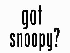 """Got Snoopy?"" Die-Cut Vinyl Decal - Black"