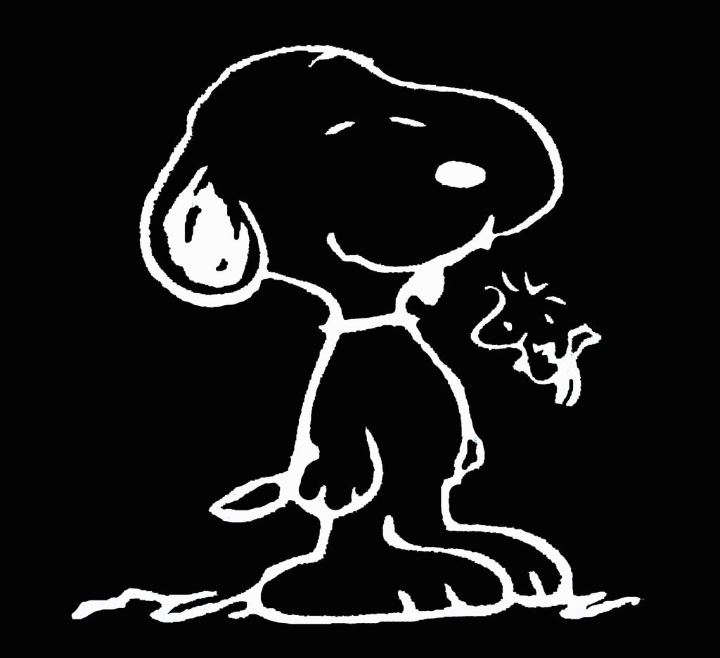Snoopy and Woodstock Die-Cut Vinyl Decal - White