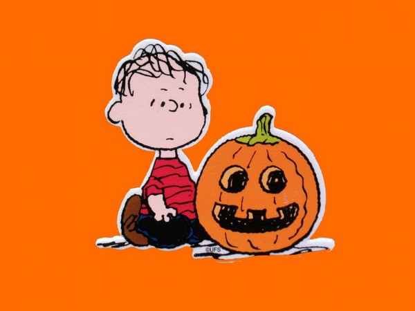 Linus and Jack 'O Lantern Scrapbooking Embellishment