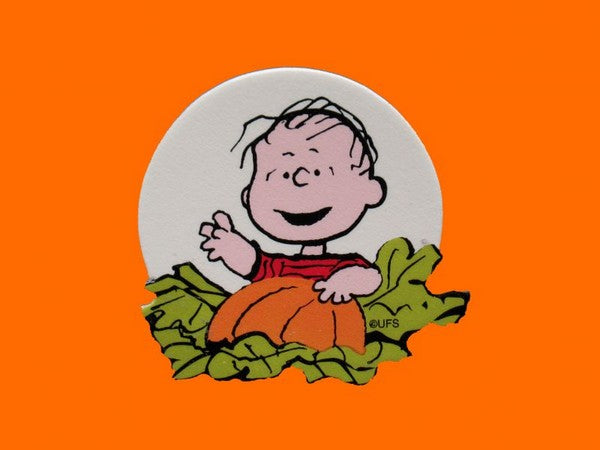 Linus In Pumpkin Patch Scrapbooking Embellishment