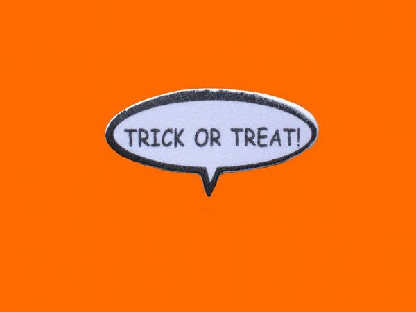 Thought Bubble Scrapbooking Embellishment - Trick Or Treat!