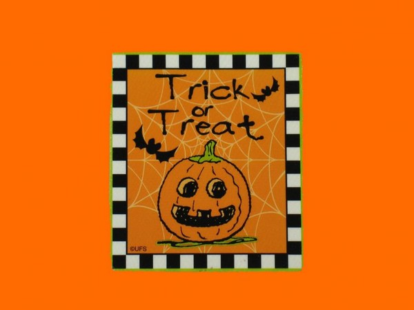 Halloween Trick Or Treat Scrapbooking Embellishment