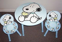 Baby Snoopy Wood Table and Chairs Set - RARE!
